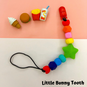 Pacifier Clip Set - French Fries with big star (FF002)