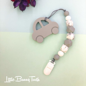 Pacifier Clip Set - Grey Car (GC002)