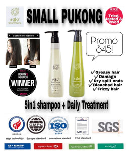 Small Pukong - Dandelion Revitalizing Shampoo  + Daily Hair Treatment