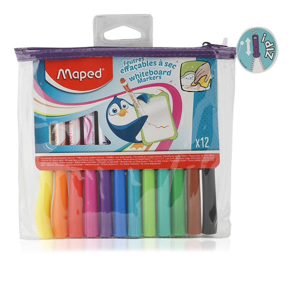 Maped Whiteboard Markers - 12 Pieces