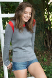 EDITH Women Sweater Bi color thunder-tomato