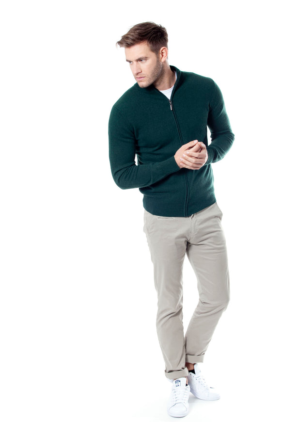 HELIUT Men Sweater Full Zip 100% Cashmere