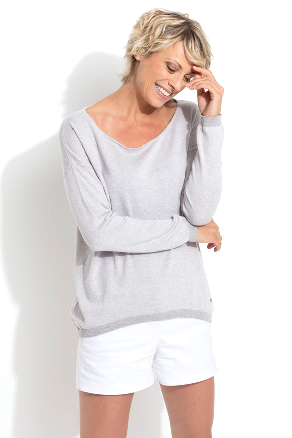 PECAN Women sweater 85 % cotton 15 % cashmere