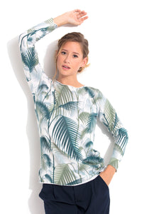 PILAR- palm bambou  100% CASHMERE  PRINTED ALL OVER