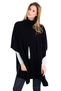 CHABLY WOMEN CAPE 70% MERCERIZED WOOL - 30% CASHMERE