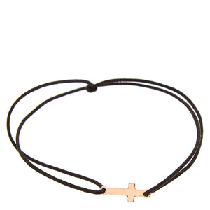 Rose Gold Cross Elastic Bracelet