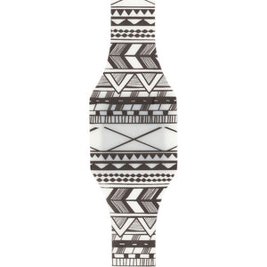 Black & White Aztec Print Digital Blink Watch