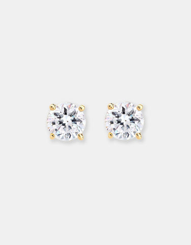 Earring Goldplated 925 Sterling Silver Swarovski Crystal