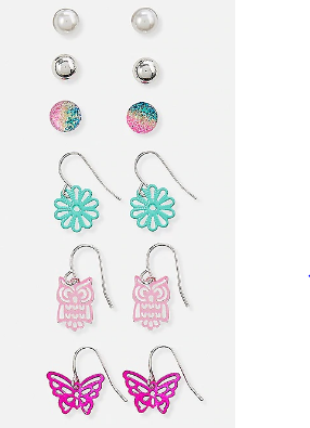 Filigree fun earrings - 6 pack