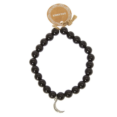 Black Beaded Dreamer Bracelet