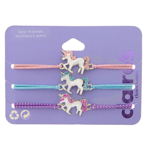 Best Friends Pastel Unicorn Stretch Bracelets