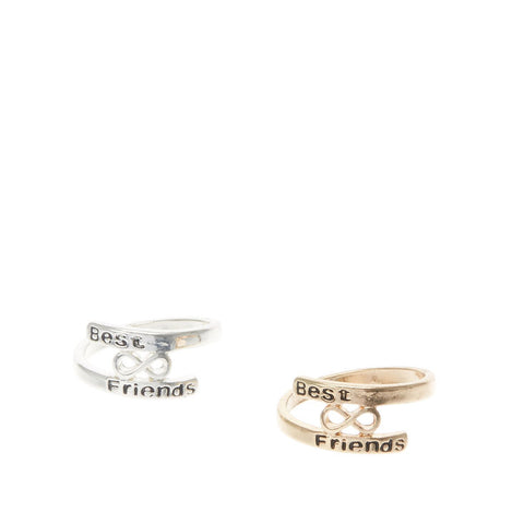 Best Friends Infinity Gold & Silver Rings - 2 Pack