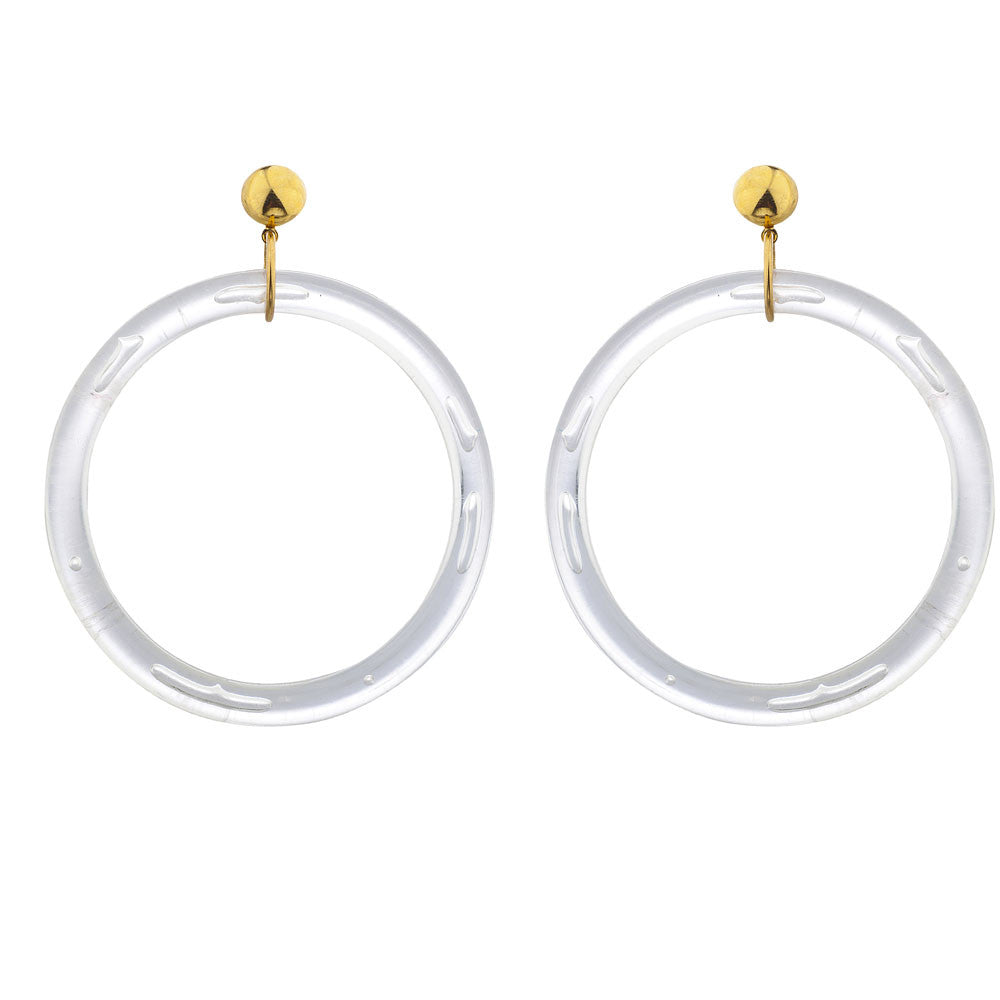 Laruicci Panda Hoop Earrings