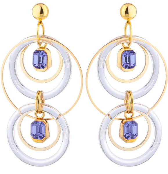 LARUICCI BLUE HALO EARRINGS