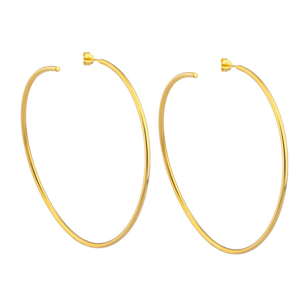 LARUICCI LUNAR HOOP EARRINGS