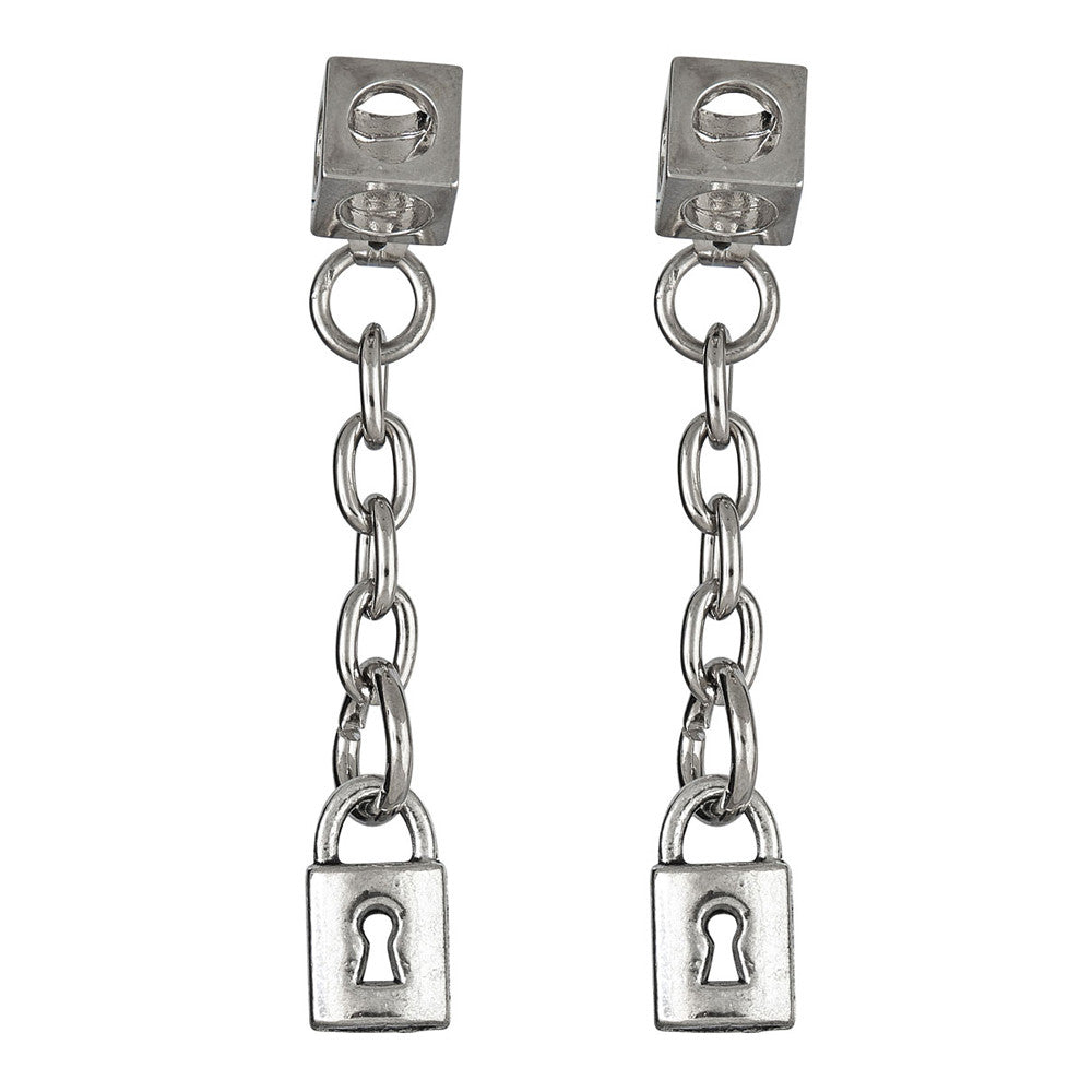 LARUICCI LOVE LOCK EARRINGS