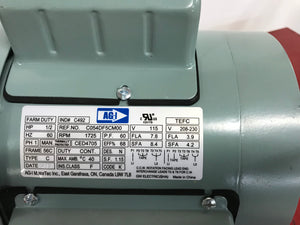 AGI 1/2 HP TEFC Farm Duty Motor