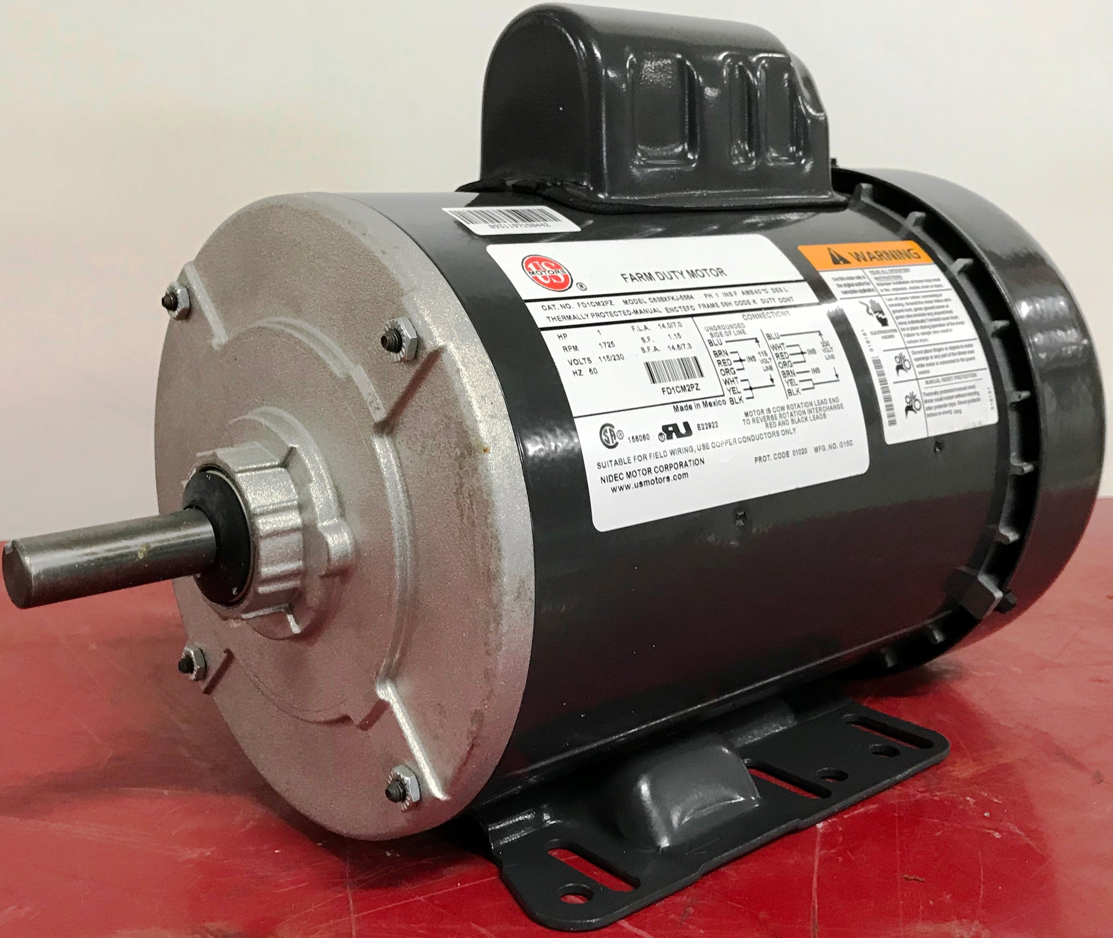 US 1HP TEFC Farm Duty Motor