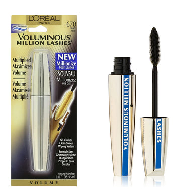 L'Oreal Voluminous Million Lashes Waterproof Mascara Black