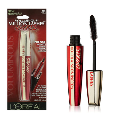 L'Oreal Voluminous Million Lashes Washable Mascara Blackest Black