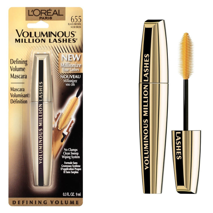 L'Oreal Voluminous Million Lashes Mascara Black Brown