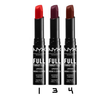 NYX Full Throttle Waterproof Lipstick