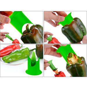 2 pc Prep Your Pepper Cutter/Corer - The Innovative Pantry