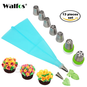 13pc Cake Decorating Set with Tips for Flowers and Leaves - The Innovative Pantry