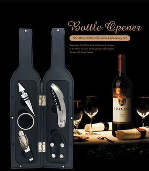 Vine Bottle 5 pc Accessory Set