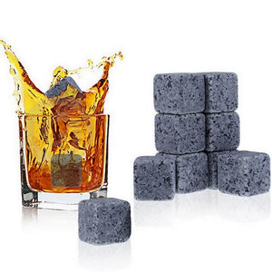Natural Whiskey Stones Ice Cubes Rocks - 9pcs
