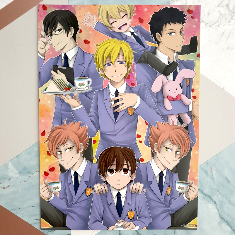 Ouran High School Host Club - A4 Print