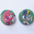 Load image into Gallery viewer, Animal Crossing Flick & CJ - Large 58mm Badges