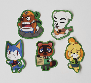 Animal Crossing - Set of 5 Sticker Pack