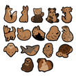 Load image into Gallery viewer, Brown Paper Animal Stickers