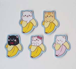 Bananya - Set of 5 Sticker Pack