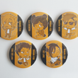 Load image into Gallery viewer, Banana Fish Critters - Large 58mm Badges