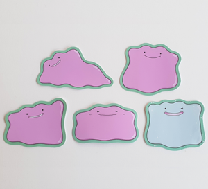 Ditto - Pokemon - Set of 5 Sticker Pack