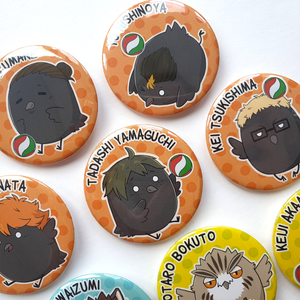 Haikyu!! Karasuno Crows & Friends - Large 58mm Badges