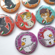 Load image into Gallery viewer, Haikyu!! Karasuno Crows & Friends - Large 58mm Badges