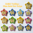 Load image into Gallery viewer, Idolish7 King Pudding - 58mm Star Shaped Badges & Sticker Sets