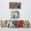 Load image into Gallery viewer, Naruto Animal Friends - Set of 5 Sticker Pack