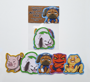 Naruto Animal Friends - Set of 5 Sticker Pack