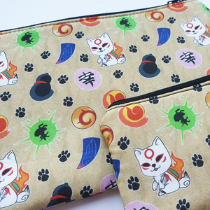 Okami - coin purse & zippy bag