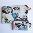 Load image into Gallery viewer, Sushi Chef Cats - Coin purse & zippy bag