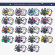 Load image into Gallery viewer, Battie & Ghostie Pride Vinyl Sticker Sets