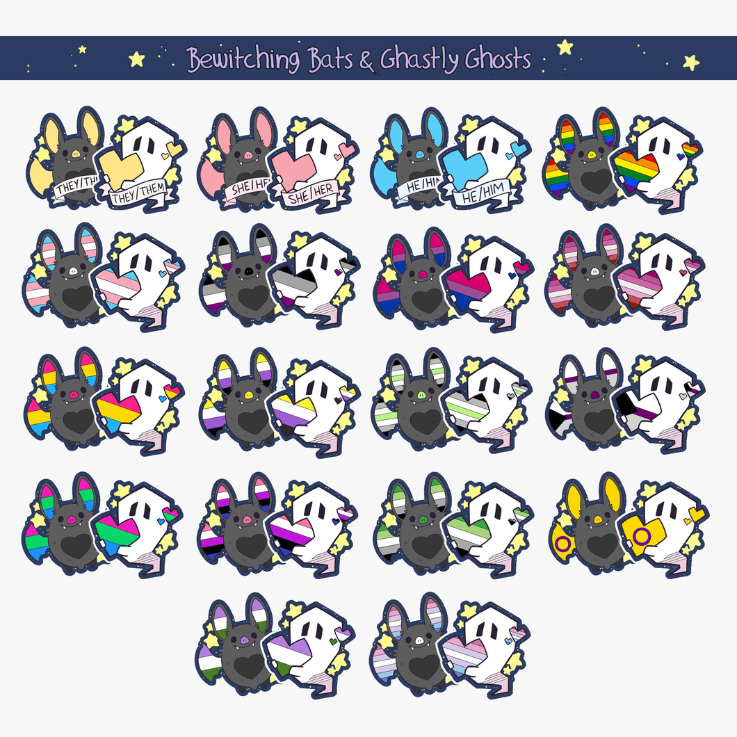 Battie & Ghostie Pride Vinyl Sticker Sets