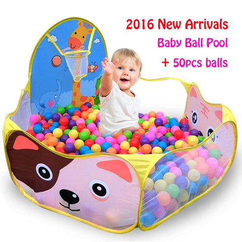 50pcs Balls+1.2M Baby Playpens For ChildrenFoldable pit  Pool Tent Game