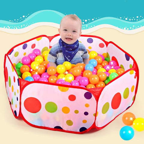 50pcs balls+Outdoor/Indoor Baby Playpens For Ball Pool Pit Activity&Toy Fencing 1M 1.2M 1.5M