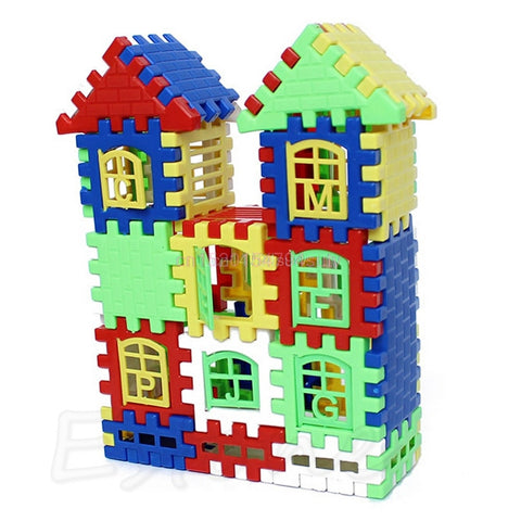 Baby Kids Children House Building Blocks Construction Developmental Toy Set Brain Game #H055#