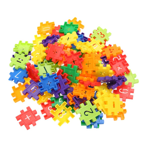 80pcs/set Plastic Building Blocks Montessori Baby Toys ds Digital Geometric Shape